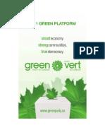 Green Party Platform 2011