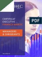 Brochure Finance Maroc 2021