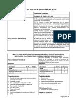 Plan de actividades CYP-909 Seminario de Tesis I