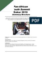 Pan-African Youth Summit Dakar 2010- Summary Brochure