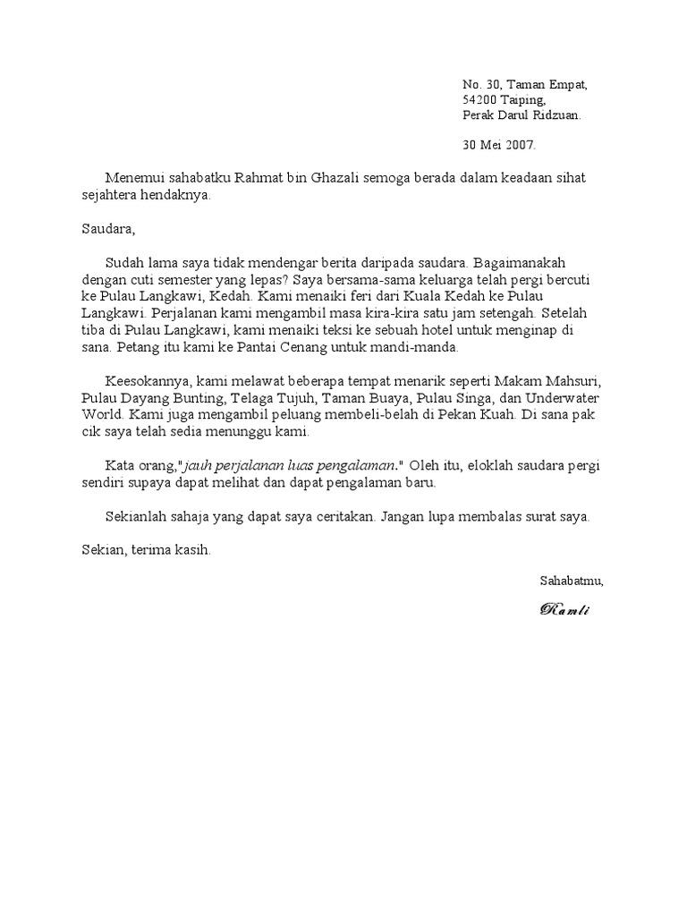 Contoh Karangan Surat Rasmi Bahasa Inggeris Spm House Q