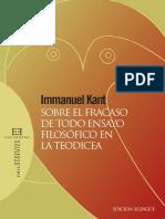 Kant, I. (2011). Sobre el fracaso de todo ensayo filosófico en la teodicea. (Edición bilingüe). (Rovira, R. trad). Madrid, España_Encuentro