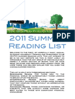 GUTIC Reading List 2011