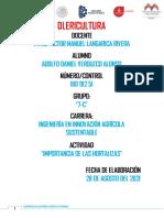 Olericultura Importancia de Las Hortalizas