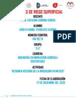 RESUMEN DE LA HISTORIA SOBRE IRRIGACION EN MEXICO UNIDAD 1