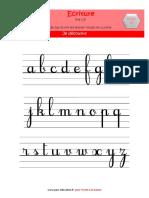 1b Maternelle Semaine 15 Graphisme Ecrire Les Lettres Rondes en Cursive Fichier Matériel a IMPR