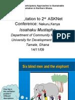 Presentation to ASKNet in Kenya