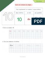 10 Ecrire Les Nombres en Lettres Chiffres Cp Ce1 Dix
