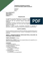 ALGORITMO PROGRAMA DE ESTUDIOS