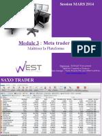 MODULE 3 (la plateforme Metatrader    4)