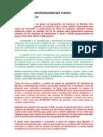 Intervencións da AEM nos plenos (2007-2010)