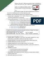 4º ESO - Estructura y Formación de Palabras + Componentes Greco-latinos