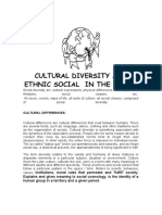 CULTURAL DIVERSITY AND ETHNIC SOCIAL  IN THE WORLD