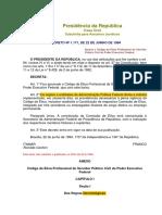 CÓDIGO DE ÉTICA DECRETO 1171-94
