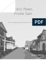 Public Power, Private Gain