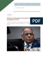 Benedito Gonçalves completa 13 anos no STJ