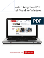 How to Create a MagCloud PDF with Microsoft Word for Windows