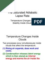 Atmospheric--saturated adibatic lapse rate