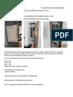 Reporte de actividades revision de tableros electricos Tai Pak