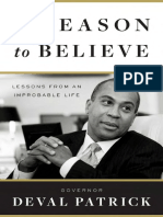 A Reason to Believe by Governor Deval Patrick - Excerpt