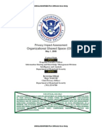 DHS ~ Privacy Impact Assessment Organizational Shared Space (OSS) May 1, 2008