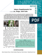 Safety of Dietary Supplements for Horses, Dogs, and Cats, Report in Brief