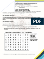 Guia de Trabajo Regiones Naturales de Colombia 5º