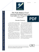 The Trade-Balance Creed