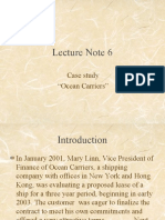 Lecture Note 6 (Case Ocean Carrier)