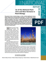 New Horizons in Plant Biology, Report in Brief
