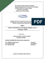 Etude Et Simulation d Une Liaison Optique Avec La
