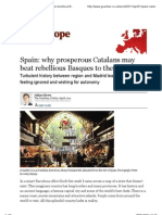 Spain_ why prosperous Catalans may beat rebellious Basques to the exit | World news | The Guardian