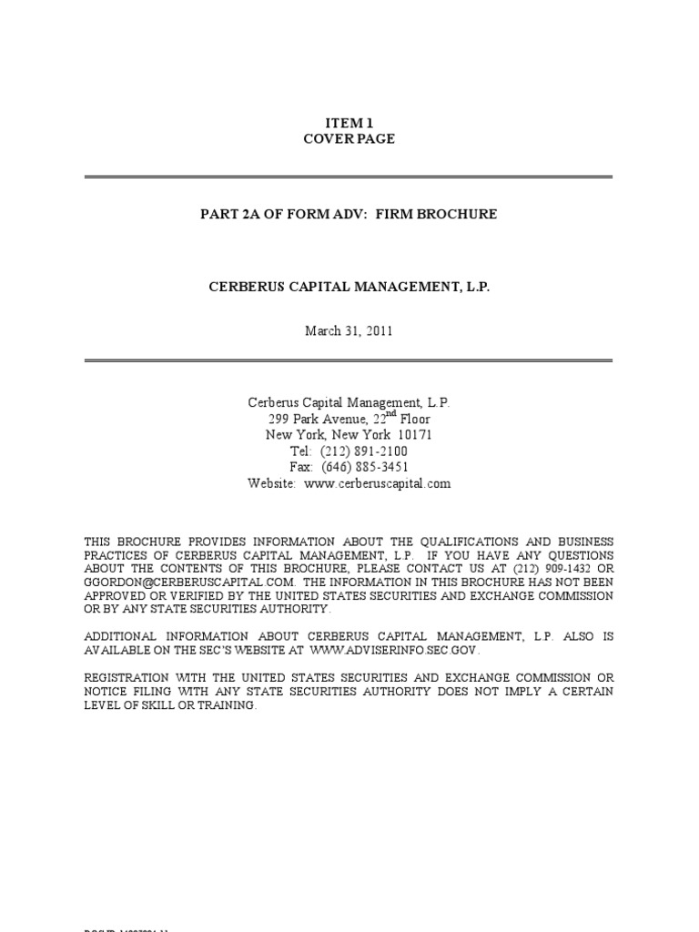 Enchanting Cerberus Capital Management Resume Gallery ...
