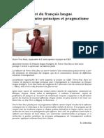 Enseignement Du Francais Langue Etranger