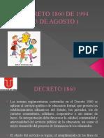 DECRETO 1860 DE 1994 EVALUACION