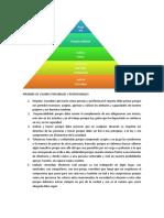 PIRÁMIDE DE VALORES PERSONALES Y PROFESIONALES