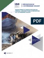 BRIEFING-PAPER-II Recrutement Et Radicalisations Au Sénégal Mesures Pour La Prévention de l'Extrémisme Violent
