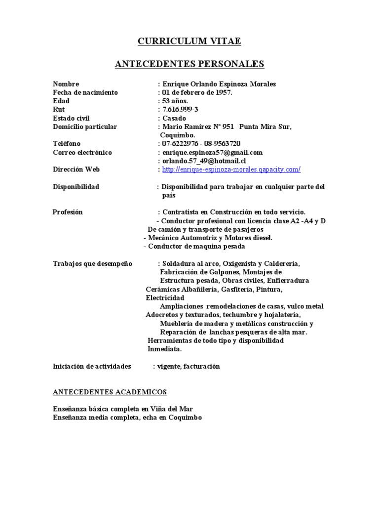 Encantador Ejemplos De Curriculum Vitae Para Trabajos De Soldadura ...