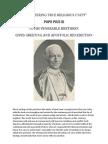 On Fostering True Religious Unity - Pope Pius XI