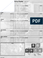 Army Roster, Blank, 8th Ed