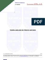 TEORIA ANALISIS DE PRECIO UNITARIO MAYO 2009