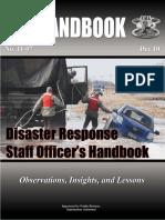 Disaster Response Staff Officer's Handbook 11-07