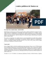 Movilizaciones contra políticas de Santos en toda Colombia