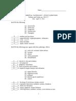 Environmental Path Study Ques 2011
