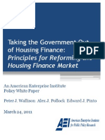 Taking the Government Out of Housing Finance