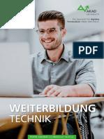 AKAD Broschuere Technik Weiterbildung