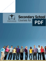 OCDSB Secondary School Courses 2011-2012