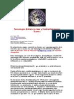 Tecnologías Extraterrestres y Contra-Estrategias Viables