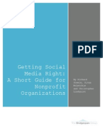 Getting Social Media Right- A Short Guide for Nonprofit Organizations