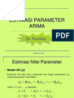 Easitmasi Parameter ARIMA